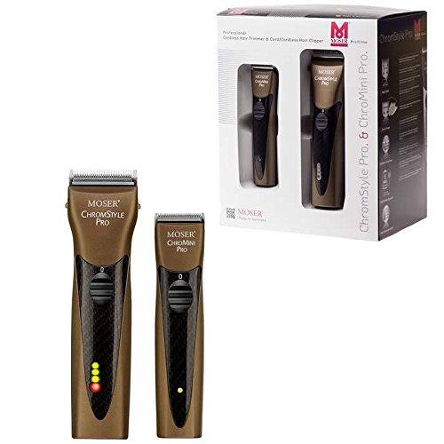 Moser - ChromStyle + ChroMini Carbon Style, Haarschneidemaschinen-Set