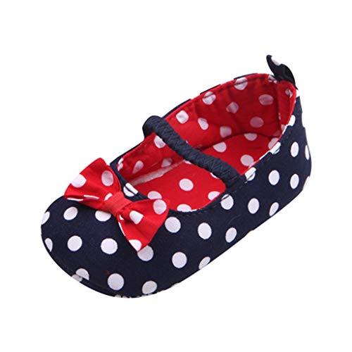 4dc059ec266be Moonuy Toddler Nouveau Chaussures Simples D été Nouveau-né Bébés Filles Dot  Bowknot Anti