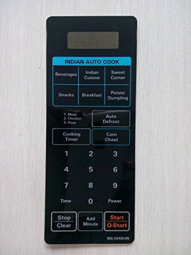 Microwave Oven Membrane Keypad . ABLE . Model No - MS-2049 UW .