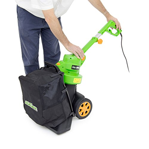 BMC 3in1 3000w Leaf Muncher Push Along Blower Vacuum with 35L Collection Bag, 10m Power Cable & Adjustable Handle Height – 2 Years Warranty