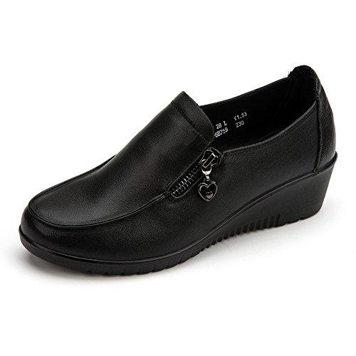 chaussures d'automne/ MAMAN et des chaussures confortables/ chaussures occasionnelles/Zip chaussure bouche profonde A