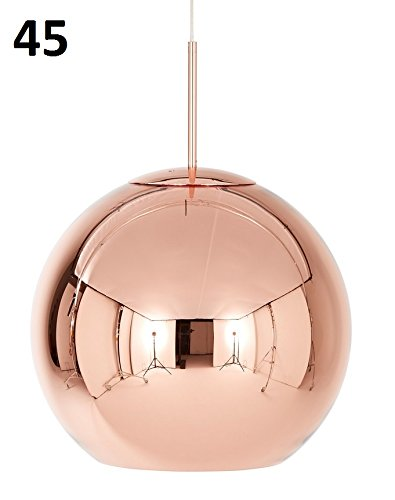 Copper Round - Suspension cuivre/brillant/dimmable/Ø 45cm