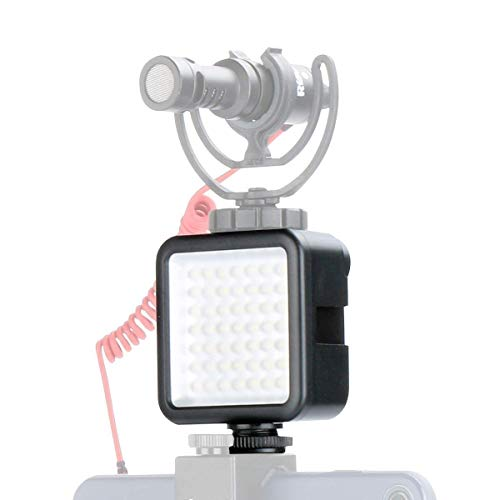 ulanzi Ultra Bright LED luce video LED 49 dimmerabile Ultra Bright Portable High Power Panel Video lampada LED luce per DJI Osmo Mobile 2 Zhiyun Smooth 4 Gimbal Stabilizzatore, Canon, Nikon, Sony Digital DSLR