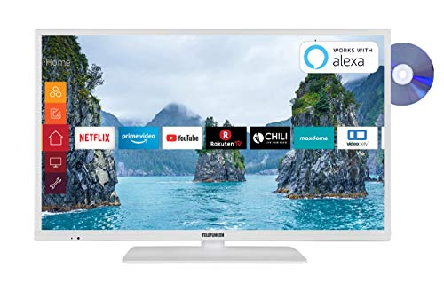 Telefunken XH32G511D-W 81 cm (32 Zoll) Fernseher (HD-Ready, Triple-Tuner, Smart TV, Prime Video, DVD-Player) (Digital-tv-tuner-dvd)