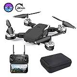 3T6B Drone Plegable con Cámara 1080P HD 5 megapíxeles, Avión WiFi FPV por Control Remoto, Cuadricóptero con Foto Gestual, Dron Sensor de Gravedad, Volando por 24 minutos, Control Remoto de Voz