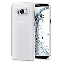 Samsung Galaxy S8 Plus Case, Spigen® [Air Skin] Galaxy S8 Plus Case with Semi-transparent Lightweight Material for Galaxy S8 Plus (2017) - Soft Clear - 571CS21679