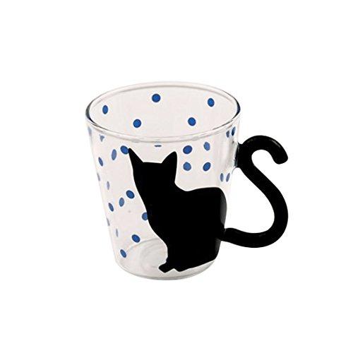 Süße, kreative Kätzchen-Tasse für Tee, Kaffee, Milch, Blau blau