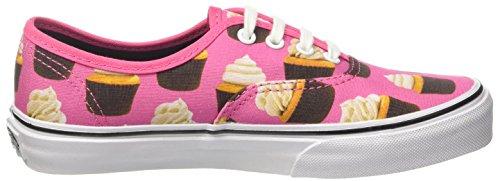 Vans Bambino Hot Rosa/Cupcakes Authentic Tela Sneaker Fucsia/Crema
