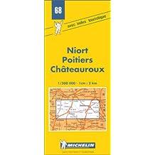 Carte routière : Niort - Poitiers - Châteauroux, N°68