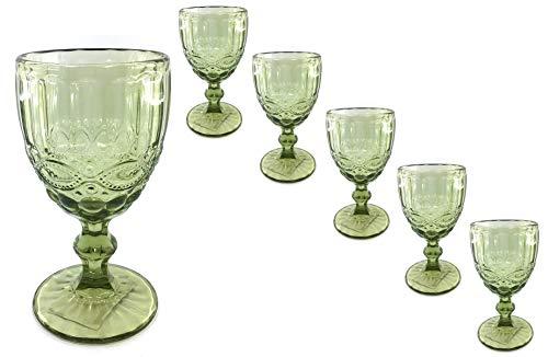 Serie Romantica grün - Sektkelch/Weinkelch / Dessertschale Größe 6 Weinkelche