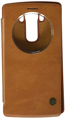 Nillkin Qin Royal Leather Bumper Flip Case Cover with Sensor Window QuickCirle View For LG G4 – BROWN