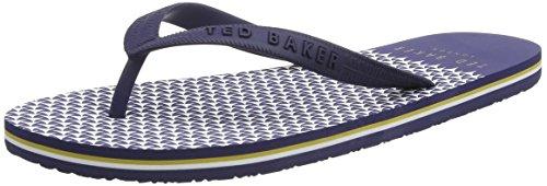 Ted Baker Herren Flyxx 4 Flip Flops, Blau (Dark Blue), 43 EU (Flip Flop Blue 12)