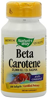 Natures Way Beta Carotene, 100 Sftgls