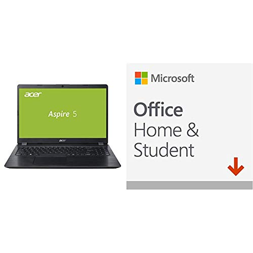 Acer Aspire 5 (A515-52G-53PU) 39, 6 cm (15, 6 Zoll Full-HD IPS matt) Multimedia Laptop (Intel Core i5-8265U, 8 GB RAM, 256 GB SSD, Nvidia GeForce MX150, Win 10) Schwarz