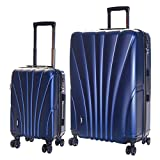 Karabar Set of 2 Hard Shell Luggage Bags Suitcases Cabin Carry-on and Extra