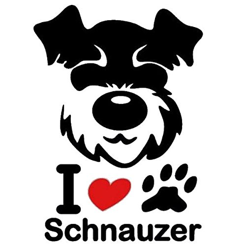 Tradico Schnauzer Dog Stickers Decal for Car Truck Vehicle Motorcycle