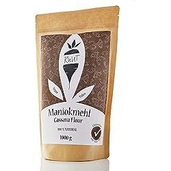 Ruut Maniokmehl / 100% Natürlich/Paleo / Vegan/Glutenfreies Mehl/Nussfrei Backen/Gesundes Brot Backen/Getreidefrei / Autoimmun Ernährung (AIP) / low-FODMAP/Ohne Zusätze / 1000g