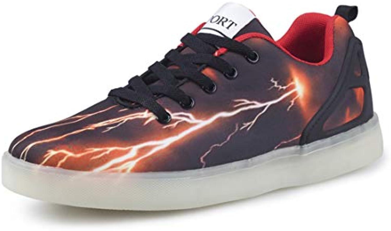 SEVENWELL Unisex Led Light-Up Shoes Pareja De Hombres Deportivos Zapatillas De Deporte USB Charging Night Running...