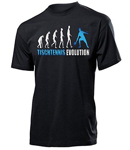 Tischtennis Evolution 547 Sport shirt tshirt Fanartikel Fanshirt Männer turniershirt Shop Sportbekleidung Herren T-Shirts Schwarz aufdruck Blau S