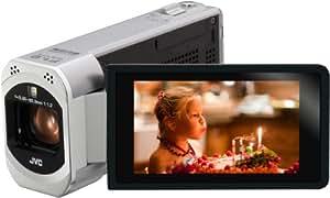 JVC GZ-VX700SEU Full-HD Camcorder (7,6 cm (3 Zoll) Display, 10-fach opt. Zoom, HDMI, WiFi, USB 2.0, High-Speed-Recording, bildstabilisiert) silber