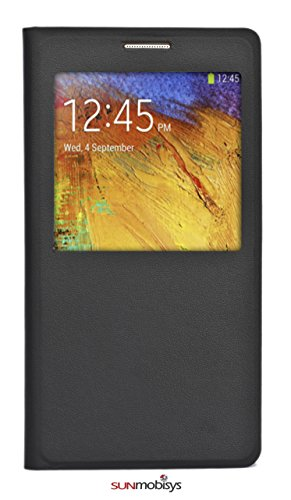 Sun Mobisys™;Samsung Galaxy Note 3 NEO SM-N750(Not for Note3 N9005) Flip Cover; Flip Cover for Samsung Galaxy NOTE3 NEO (Not for Note3 N9005) BLACK