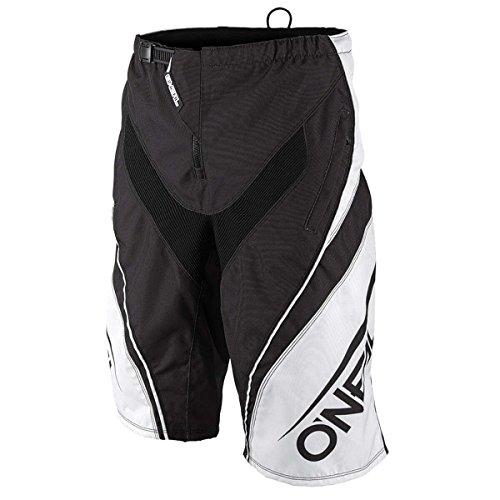 O 'Neal Element FR Pantalones Cortos Blocker Blanco y Negro Pantalones MTB DH AM MX Enduro Offroad, 1078-1, color negro, tamaño 32
