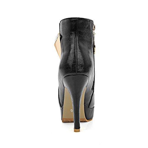 Guoar , chaussures compensées femme Schwarz