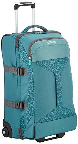 American Tourister - Road quest bolsa de viaje con ruedas, 40 Litros, verde (sea green print), M (69cm-62,5L)
