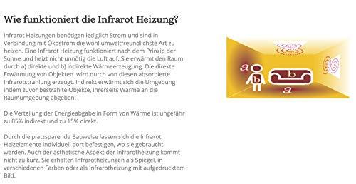 Könighaus 600W/800W/1000Watt Infrarot Bildheizung Ölgemälde Infrarotheizung mit Bild 4*