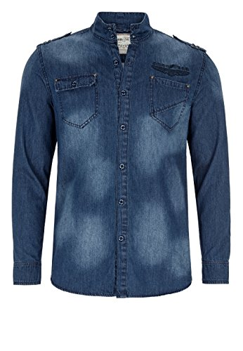 Goodyear Fashion Herren Comfrey Hemd Blue Denim used