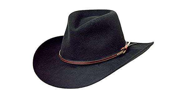 7b958096d07c6 Stetson Men's Bozeman Wool Felt Crushable Cowboy Hat - Twboze-813007 Black:  Amazon.co.uk: Clothing