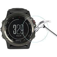 Interesting® 3 PC Ultra fino 9H 2,5 D templado vidrio pantalla para Garmin Fenix 3 horas Vivoactive horas reloj
