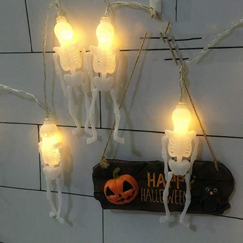 2 Meter 20 Lichter Tricolor Halloween Dekoration Lichter String Kürbis Ghost, Spinnenschläger Batterie Box Lichter 10 (Orange Halloween Ohne Nägel)