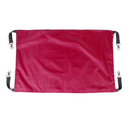 Amaca reversibile per animali, letto sospeso per gabbie, rosa rosso, Large