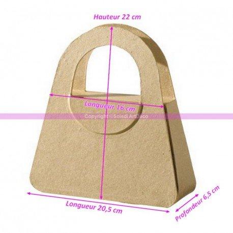 Rucksack Hände aus Pappmaché, 22x 20,5x 6,5cm, Boite à verschönern im Deko Artikel