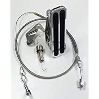 Hot Rod Billet Suelo Kit de pedal de acelerador de montaje w/cable trenzado &