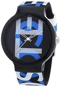 Lacoste 2020063 - Reloj analógico de cuarzo unisex, correa de silicona multicolor de Lacoste