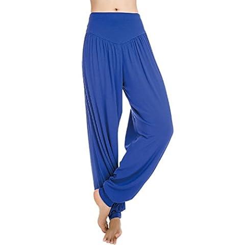 Nanxson(TM) Damen Frauen Weich Modal Yoga Hose lose Lang Traininghose Sporthose YDKW0008 (Saphir, L)