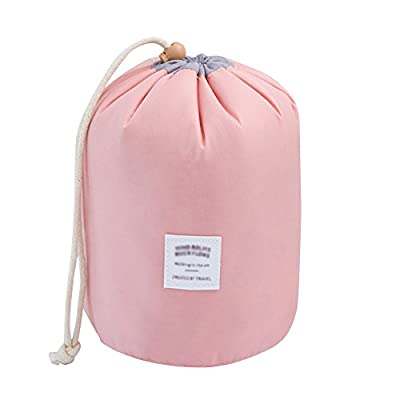 Cosmetic Organizer Travel Kit Wash Toiletry Makeup Bag Drawstring Storage Carry Case with Small Pouch - low-cost UK light shop.