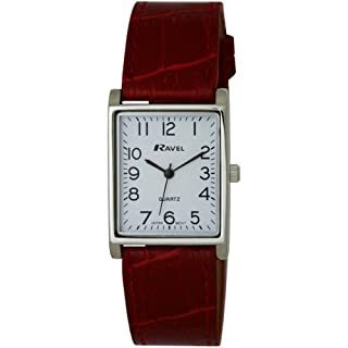Ravel Large Case Fashion on PU Strap Women's Quartz Watch with White Dial Analogue Display and Red Plastic Strap R0120.10.1 (B0072H4BFE) | Amazon price tracker / tracking, Amazon price history charts, Amazon price watches, Amazon price drop alerts