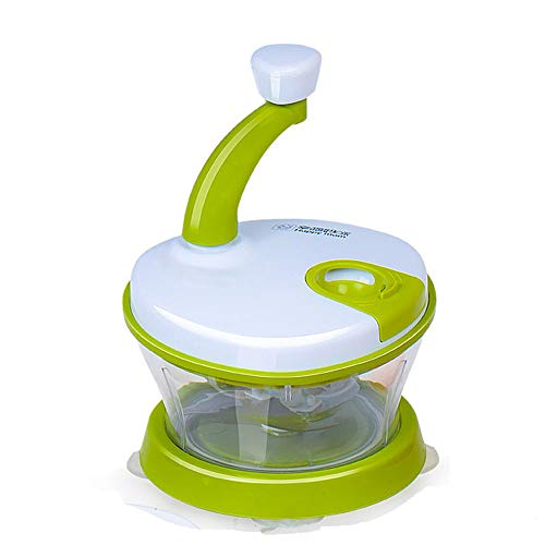 XXTT Küchenhelfer Zwiebel Gemüseverarbeiter Manuelle Lebensmittel Stabmixer Säuglingszusatznahrung Mit 3 scharfen Edelstahlklingen (Stabmixer Chopper)
