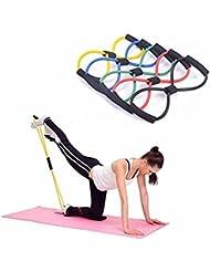 Cuerda Banda Elástica Tubo Tipo 8 para Gimnasio Entrenamiento Rehabilitación Yoga Pilates Colores Muy Resistente