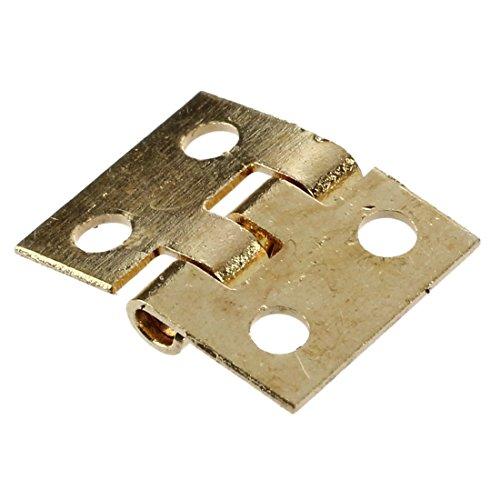 SODIAL(R) 12 Stueck Mini Schrank Wandschrank Scharnier fuer 1/12 Puppenhaus Miniatur Moebel Golden - 2