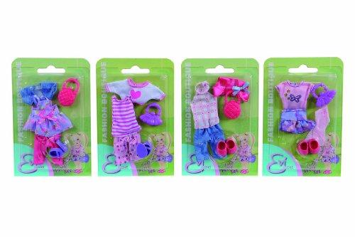 Simba Toys 105721042 - Set Abbigliamento Evi Love con Vestiti, Scarpe e Borsetta, Modelli Assortiti