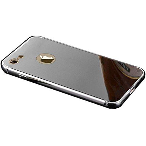 """Miroir Coque Pour iPhone 7 [4.7""""], or Métal Mince Noble Accessoires Série AOFad AB034 AB035+Silver"""