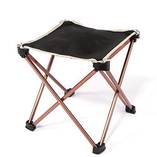 BEANCHEN BOHNEN Sitzer Klapp Angeln, Outdoor Camping Klappstuhl Aluminium Hocker Zug Angeln Stuhl Ultraleicht Tragbare Vier Ecken (Größe: 23 * 23 * 25 cm) -