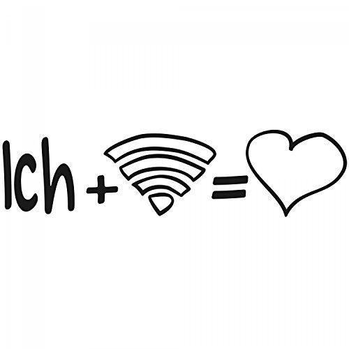 Ich + Wifi = Liebe - Herren T-Shirt von Fashionalarm | Fun Shirt Spaß I Love The Internet PC Computer Smartphone WLAN Surfen Browsen Lustig Weiß
