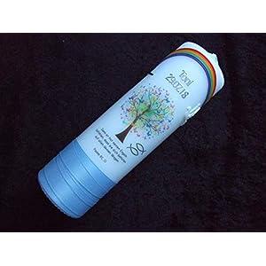 Taufkerze Lebensbaum mit Regenbogen Junge hellblau - Taufkerzen Sonderanfertigung nach Kundenwunsch (Name/Datum/Taufspruch)