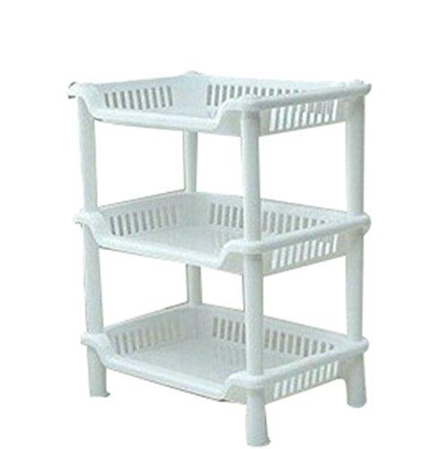 Sronjn Einfache Storage Rack mit abnehmbaren Lagerregals Lagerschränke für kleine Raum 3 Etagen...
