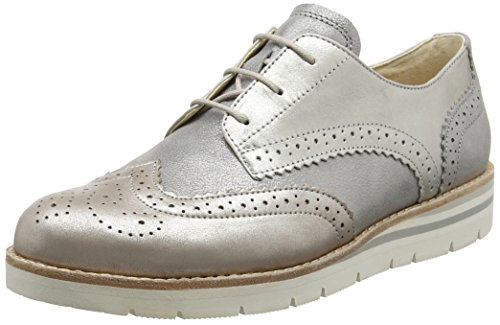 Gabor Damen Comfort 62.558 Brogue Schuhe Grau (grey/muschel 22)